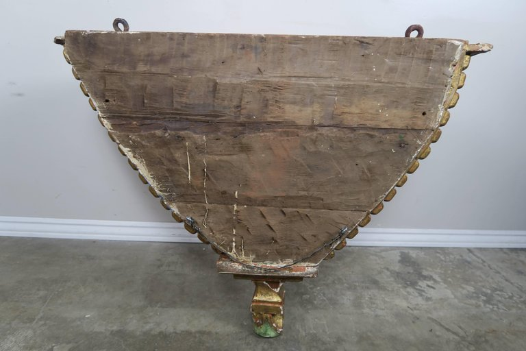19th Century Spanish Painted Corbel:Shelf7