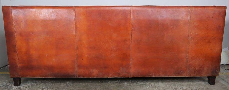 Italian Tobacco Colored Leather Sofa1