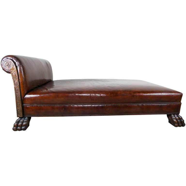 Leather upholstered chaise longues circa 1940 melissa for Chaise 1940