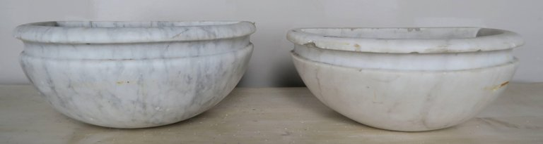 Petite Carrera Marble Italian Basins, Pair2