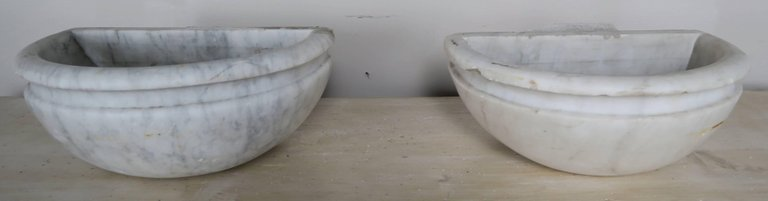 Petite Carrera Marble Italian Basins, Pair3