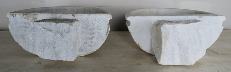 Petite Carrera Marble Italian Basins, Pair7