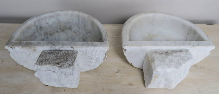 Petite Carrera Marble Italian Basins, Pair8jpeg