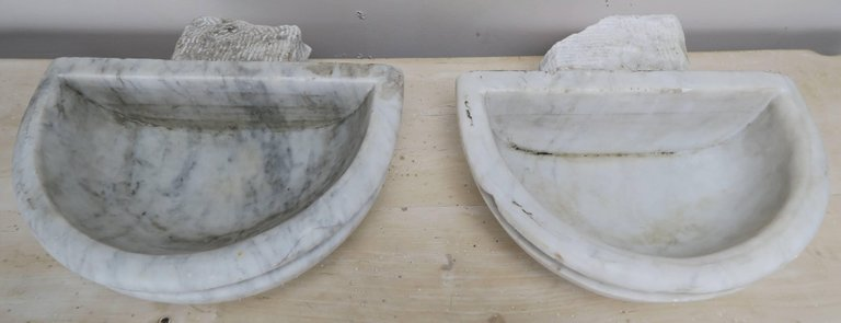 Petite Carrera Marble Italian Basins, Pair9