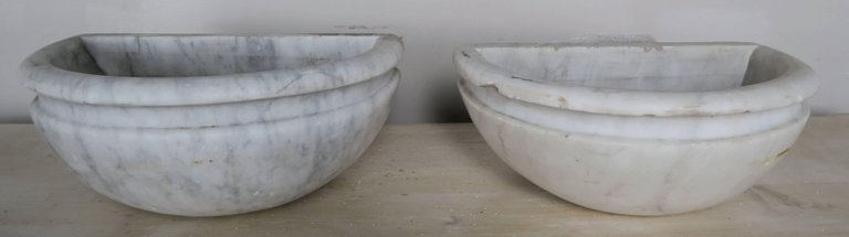 Petite Carrera Marble Italian Basins, Pair910