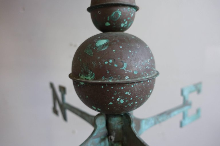 Unique Copper Weathervane of Squirrel on Iron Base4