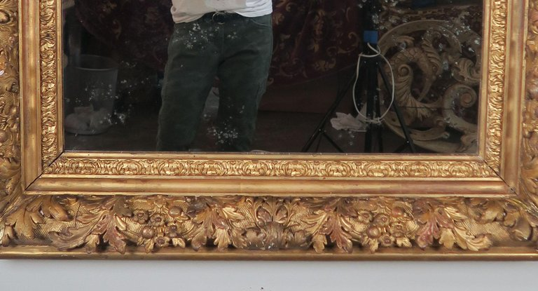 18th Century French Carved Louis XIV Style Mirror2