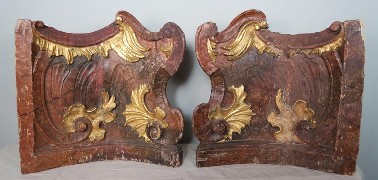 19th Century Italian Painted and Parcel-Gilt Architectural Fragments1