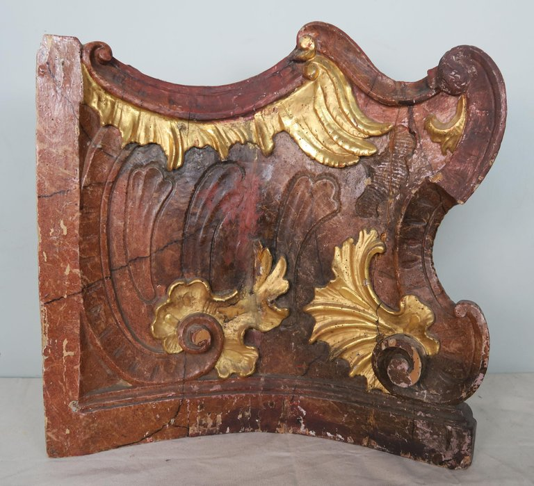 19th Century Italian Painted and Parcel-Gilt Architectural Fragments2