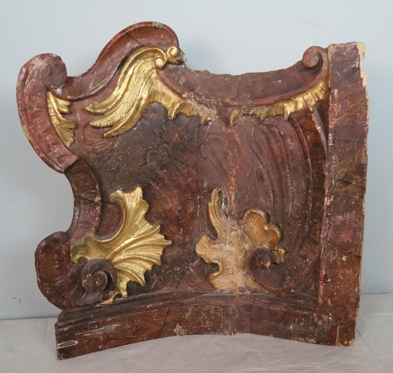 19th Century Italian Painted and Parcel-Gilt Architectural Fragments3