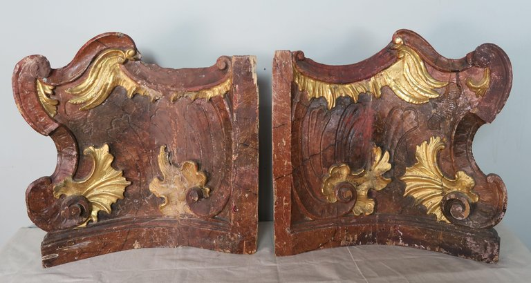 19th Century Italian Painted and Parcel-Gilt Architectural Fragments7