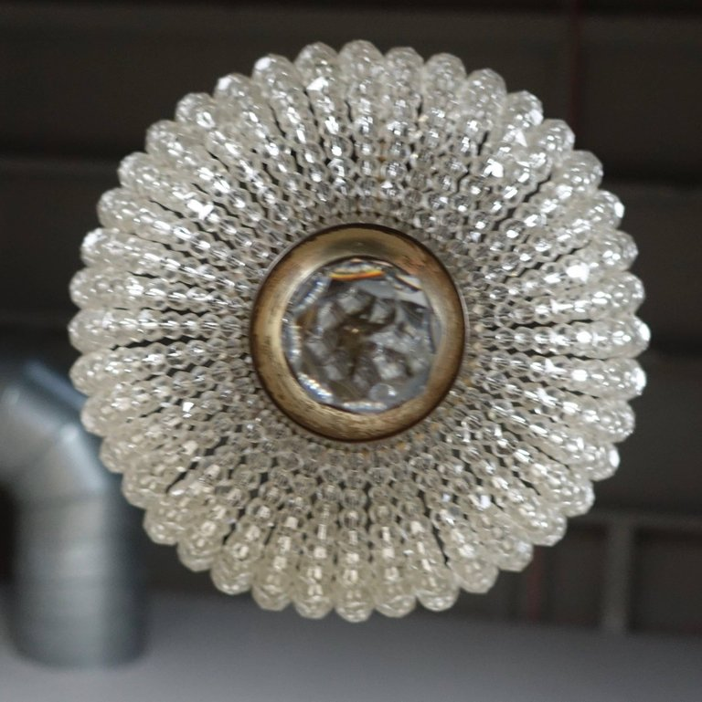 French Crystal Beaded Ceiling Fixture, circa 1920s3