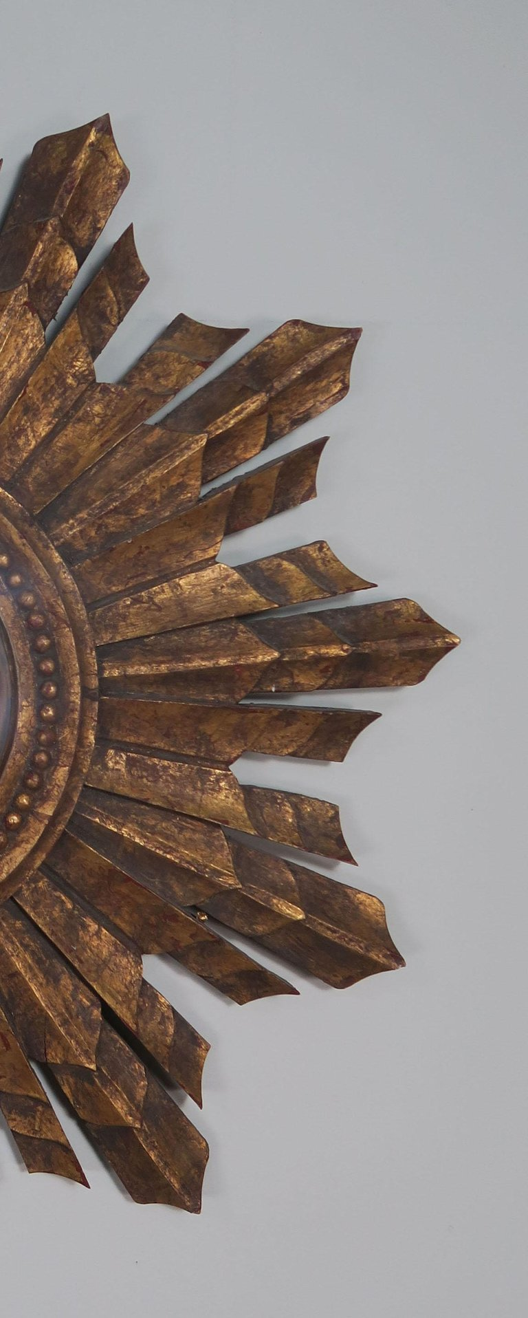 Italian Gilt Wood Convex Sunburst Mirror4