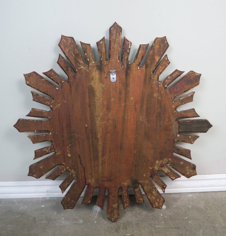 Italian Gilt Wood Convex Sunburst Mirror7