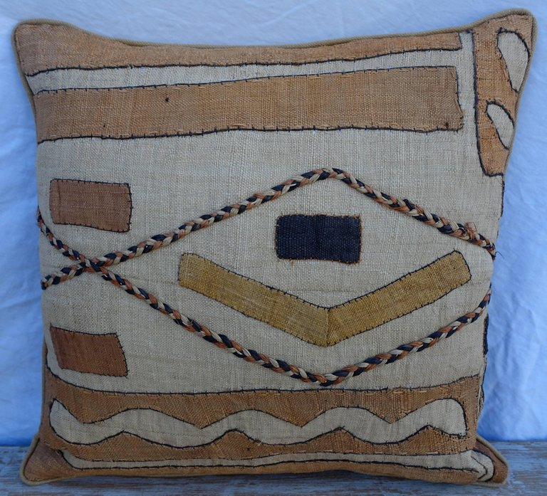 Pair of African Kuba Cloth Pillows5
