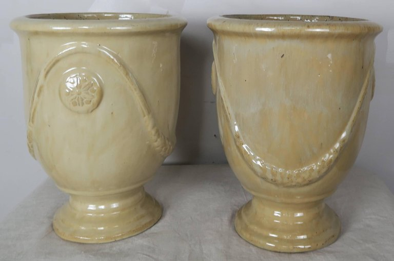Pair of French Terra Cotta Glazed Pots5