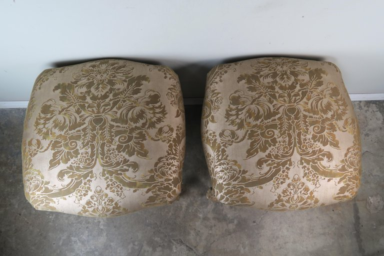 Pair of Giltwood Fortuny Upholstered French Benches7