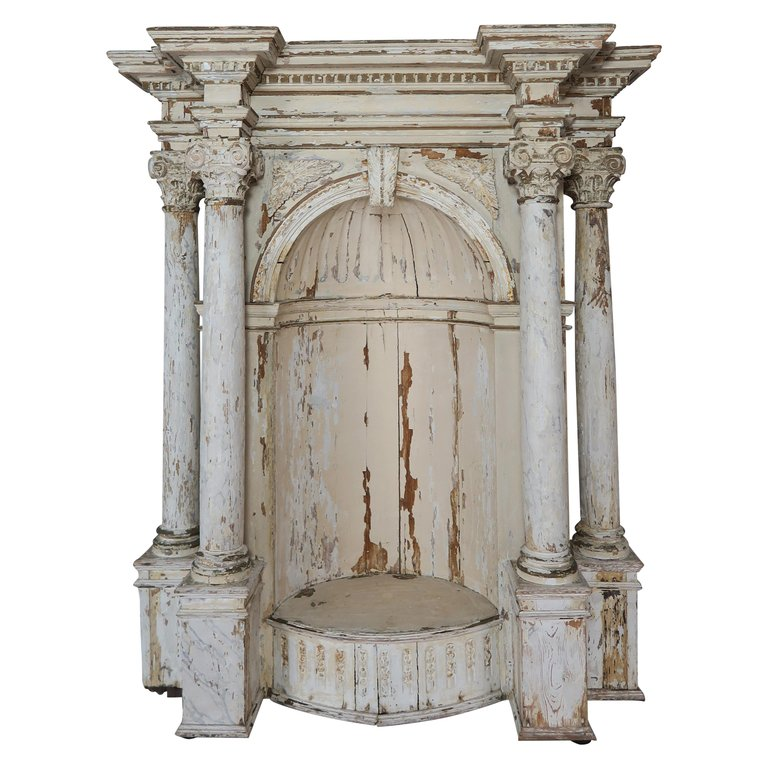 Early 19th Century Painted Alter Piece $3,500