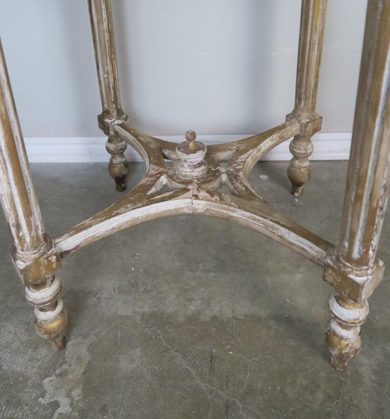 French Louis XVI Style Side Table with Marble Top7