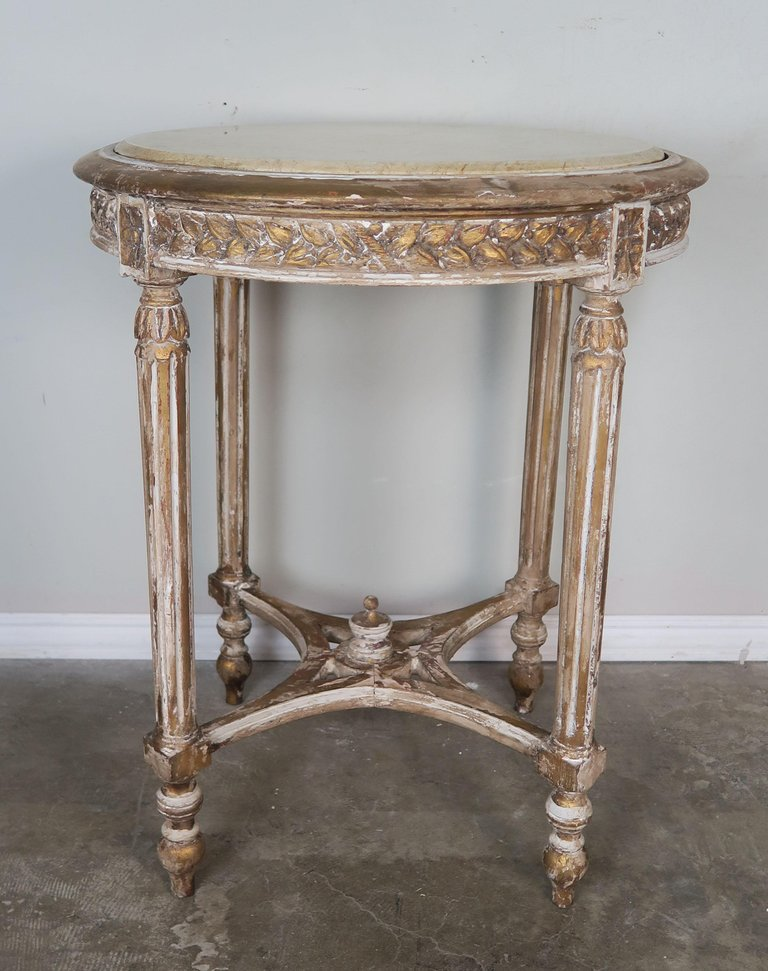 French Louis XVI Style Side Table with Marble Top88