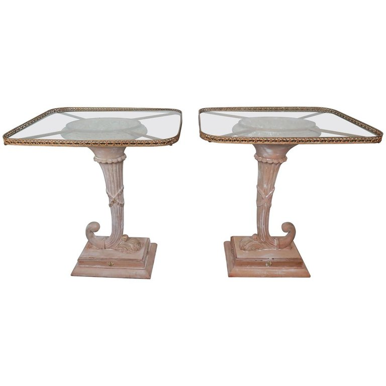 Italian Neoclassical Style Cornucopia Side Tables, Pair