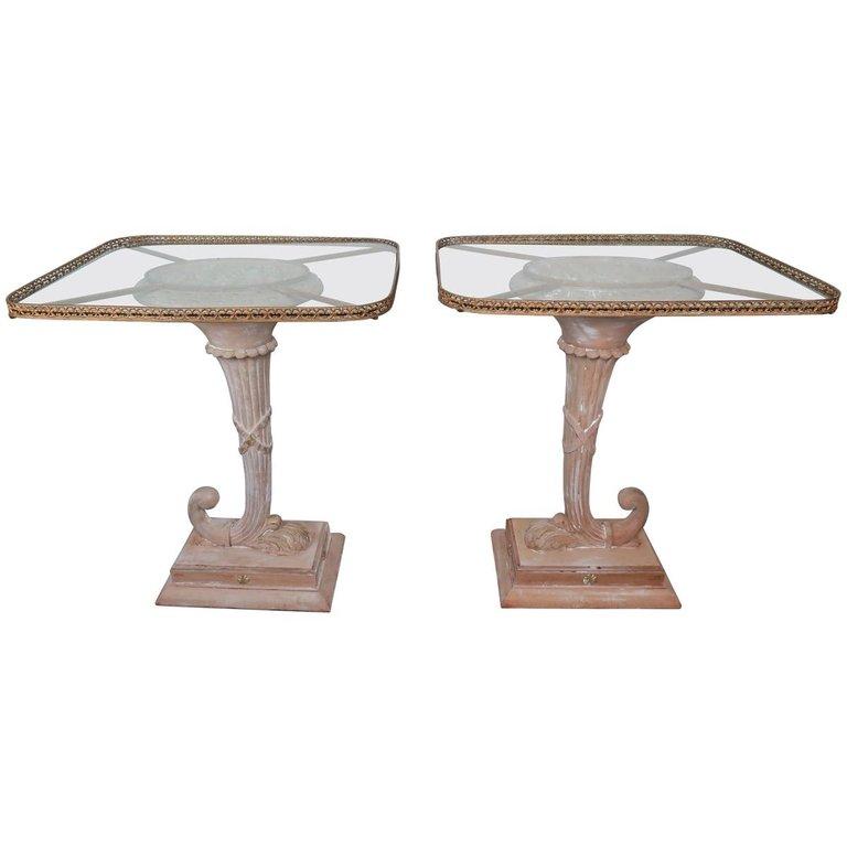Italian Neoclassical Style Cornucopia Side Tables, Pair