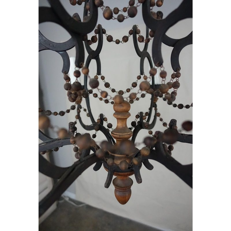 spanish-wrought-iron-and-wood-beaded-chandelier-2150