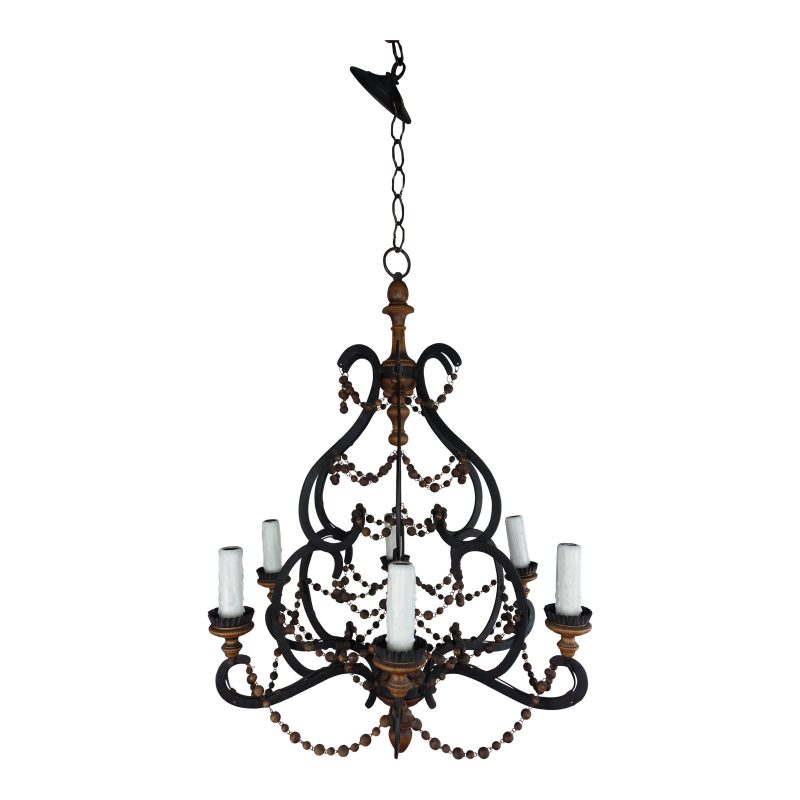 spanish-wrought-iron-and-wood-beaded-chandelier-6087