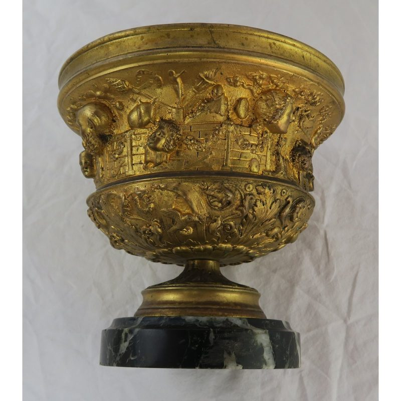 19th-c-bronze-tazza-on-marble-base-1306