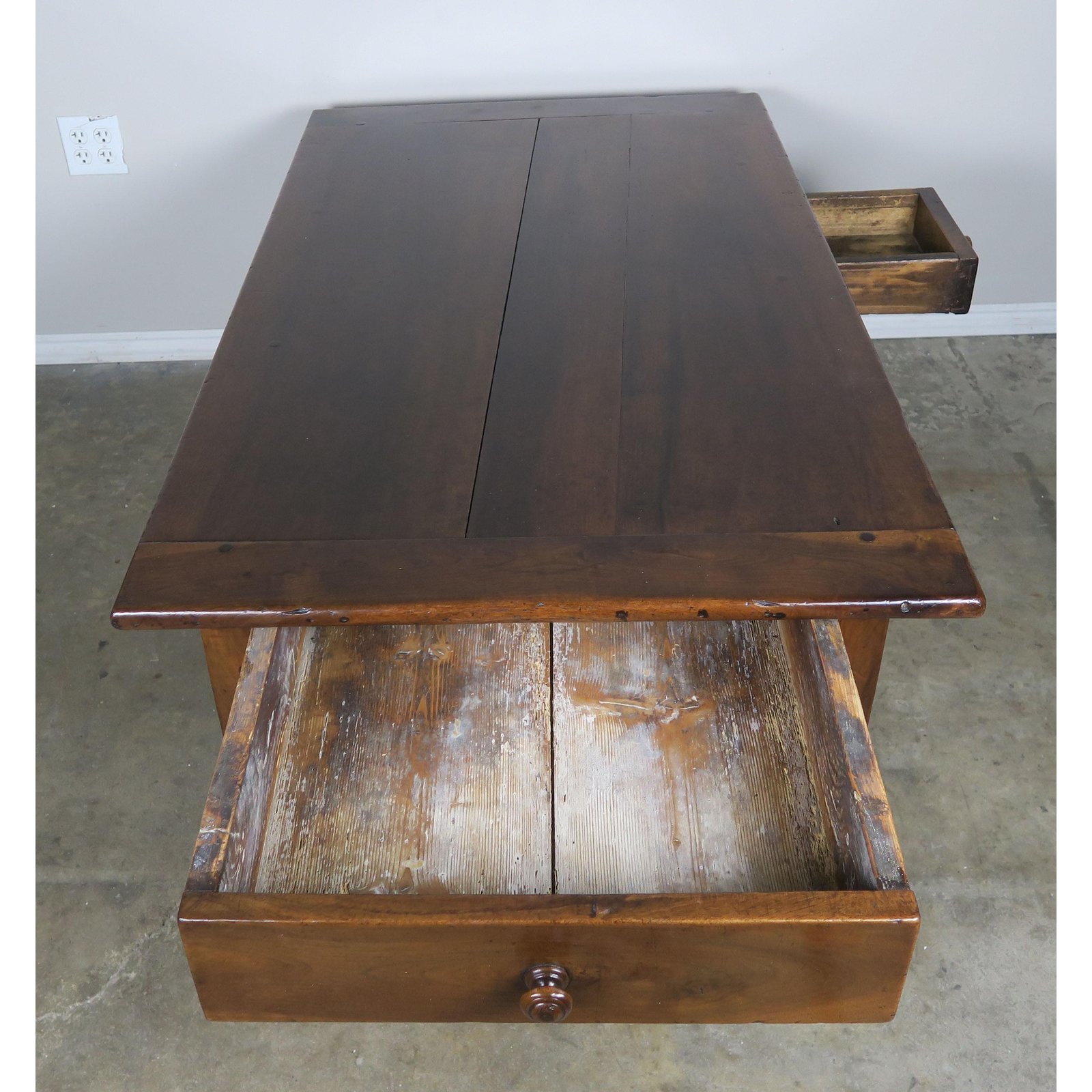 Build Coffee Table With Drawers: 19th Century English Walnut Coffee Table With Drawers