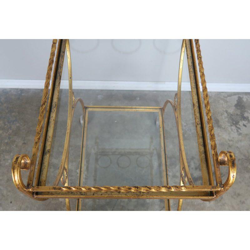 2-shelf-gilt-metal-glass-serving-cart-on-wheels-0023