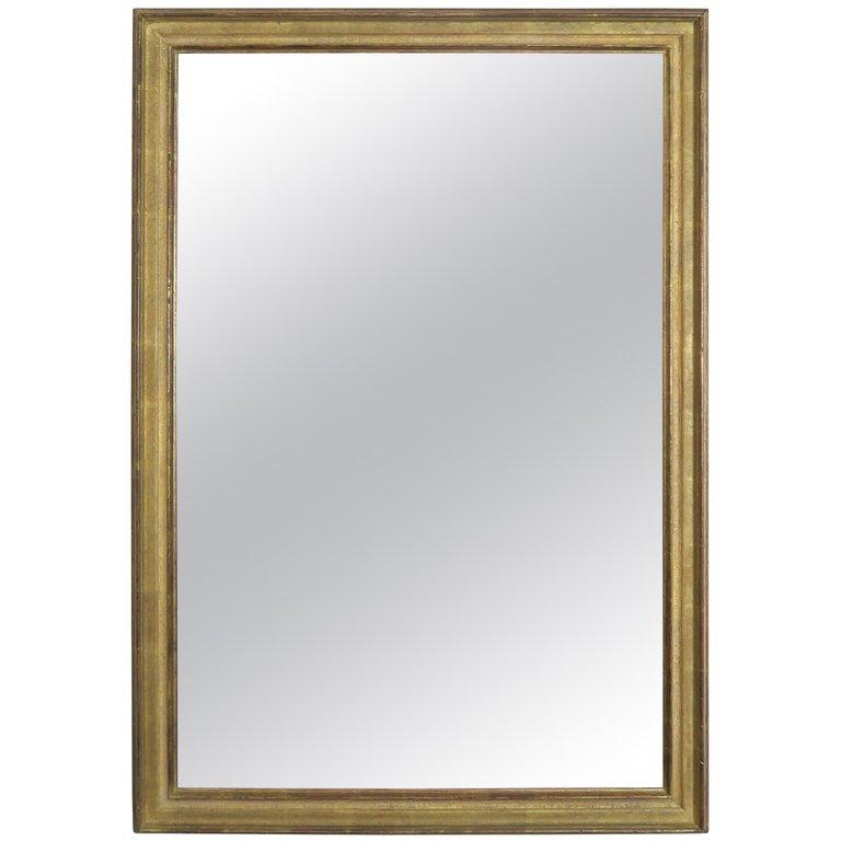 Italian 1960s Transitional Gold Framed Mirror $650