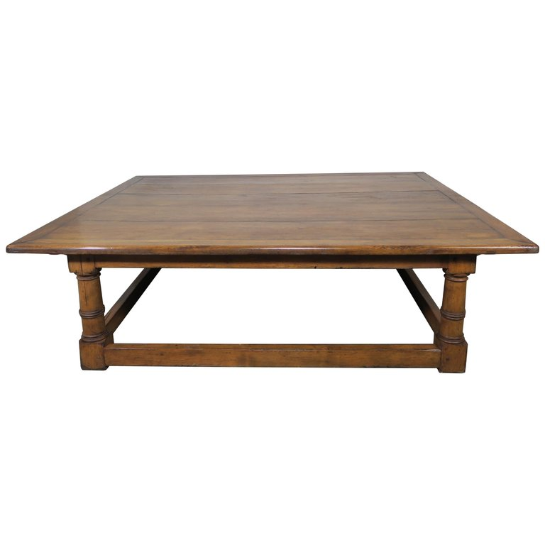 Monumental English Walnut Coffee Table $5,800