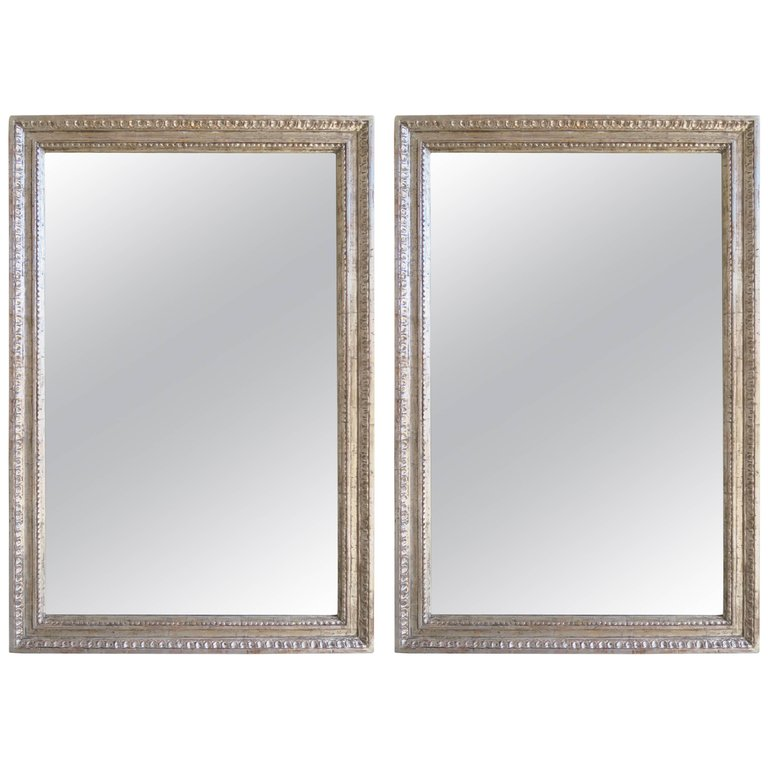 Pair of Italian Style Silver Gilt Mirrors by Melissa Levinson $4,800