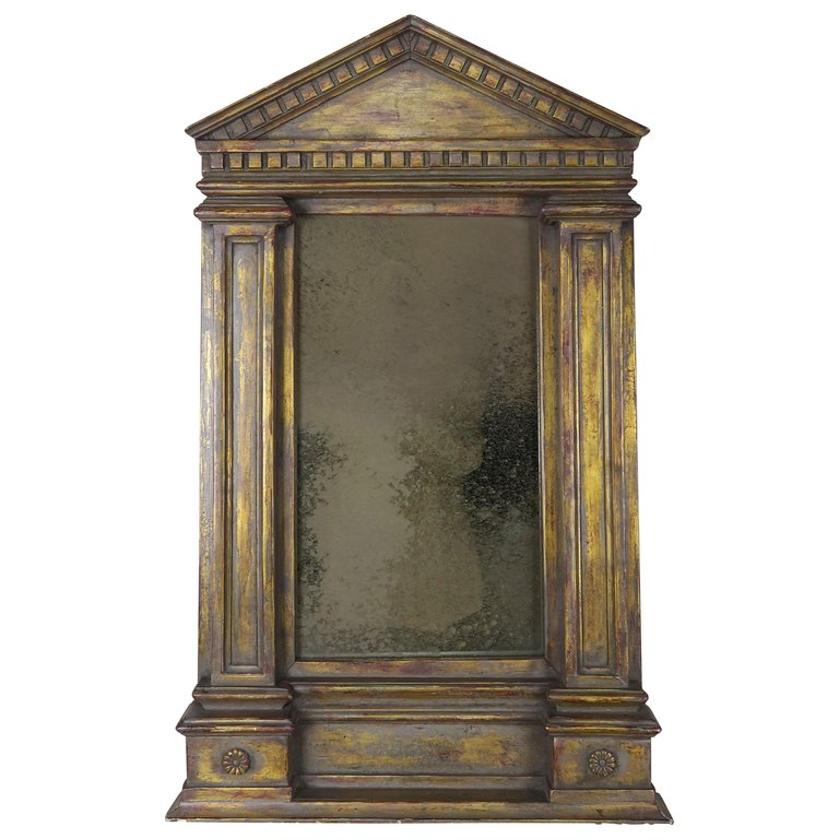 19th C. Italian Neoclassical Style Gilt Wood Mirror