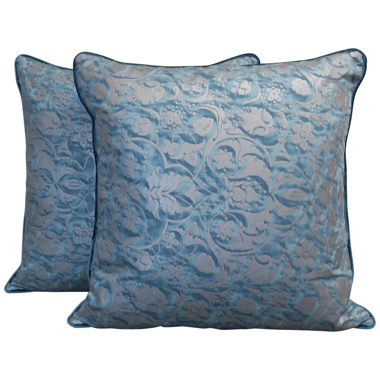 Pair of Square Fortuny Pillows $1,200