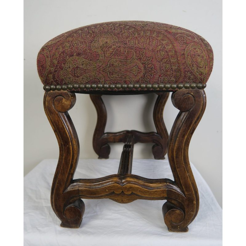 spanish-walnut-bench-w-paisley-upholstery-c-1940-1105