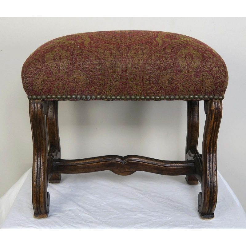 spanish-walnut-bench-w-paisley-upholstery-c-1940-2968