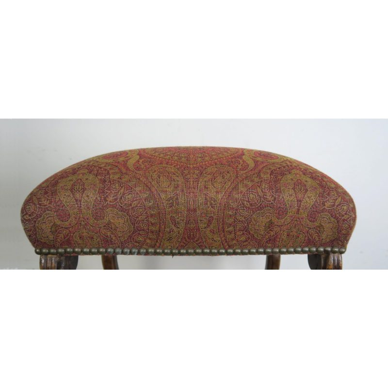 spanish-walnut-bench-w-paisley-upholstery-c-1940-5536