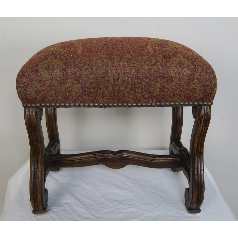 spanish-walnut-bench-w-paisley-upholstery-c-1940-9443
