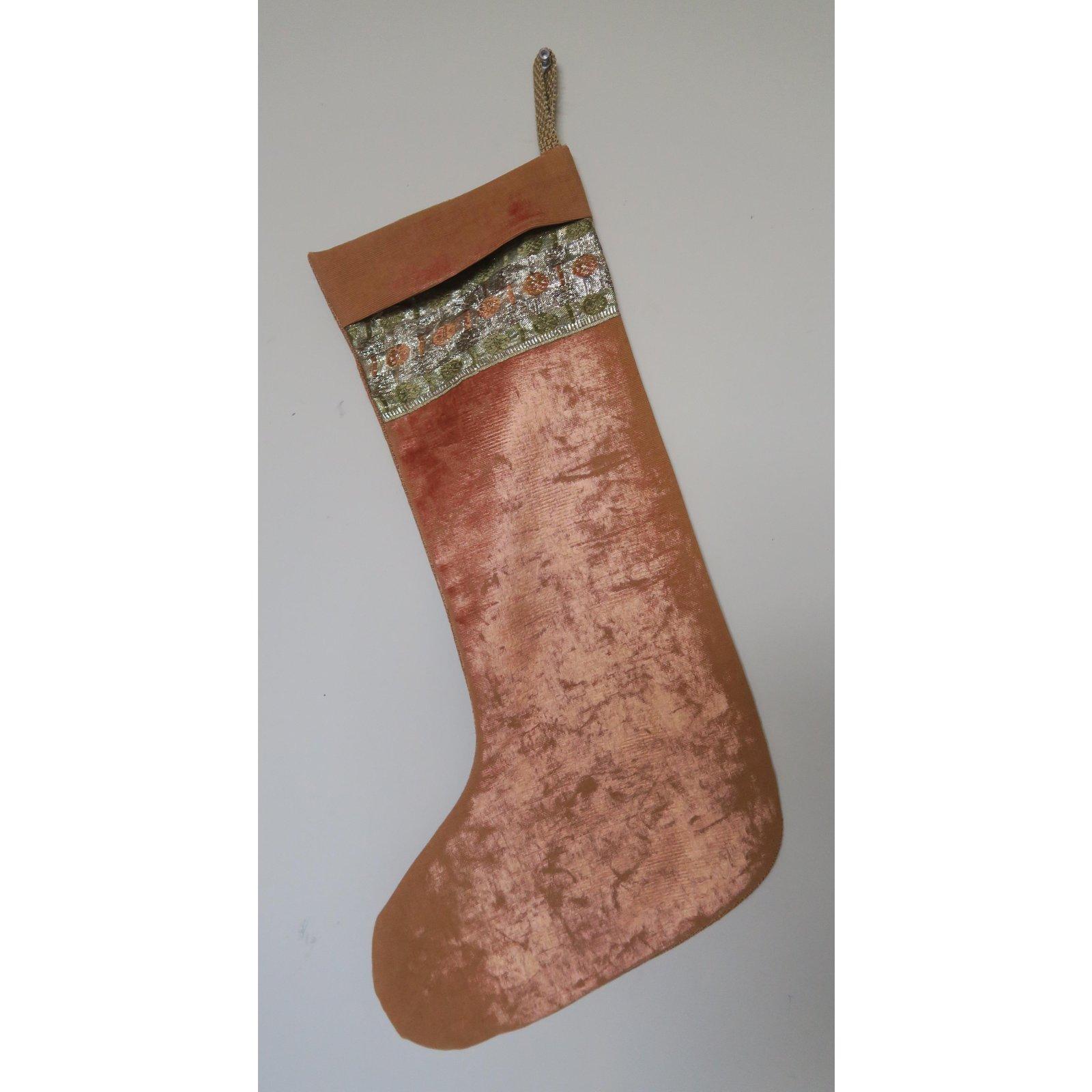 Vintage Christmas Stockings.Vintage Velvet Christmas Stocking