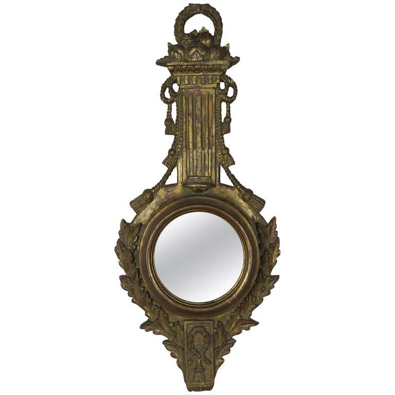 Italian Giltwood Mirror with Tassels $1,800
