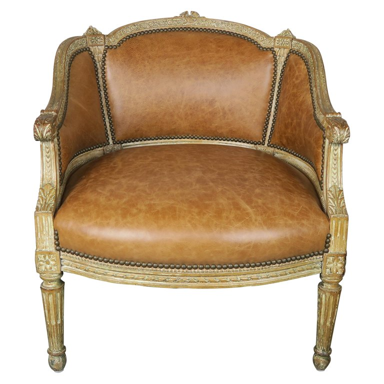 Petite French Louis XVI Style Painted Armchair, circa 1940s $2,200