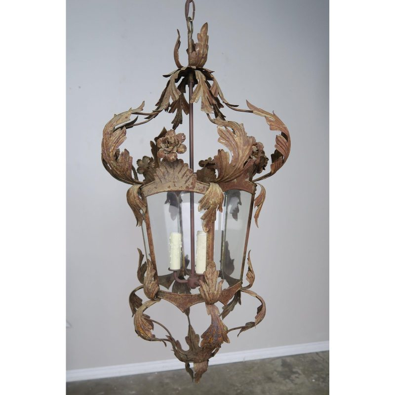 spanish-wrought-iron-lantern-c-1940s-2475
