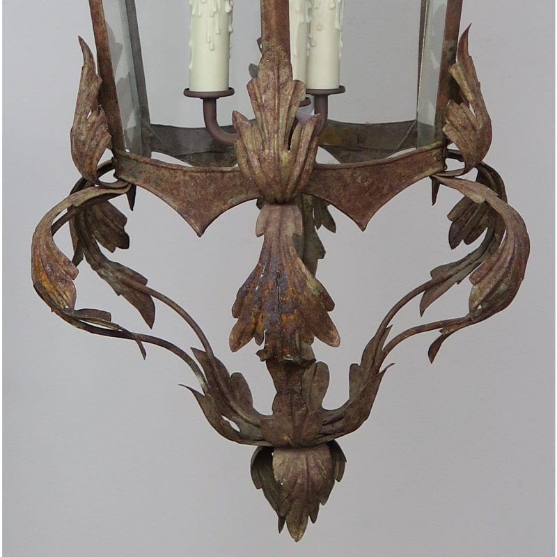 spanish-wrought-iron-lantern-c-1940s-6404