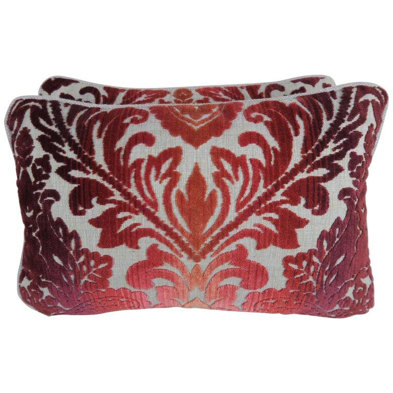 Clarence House Cut Velvet Pillows, Pair $450