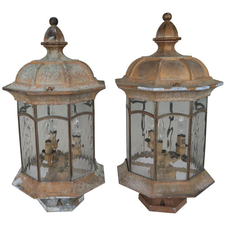 French Pagoda Shaped Post Lights, Pair $1,800