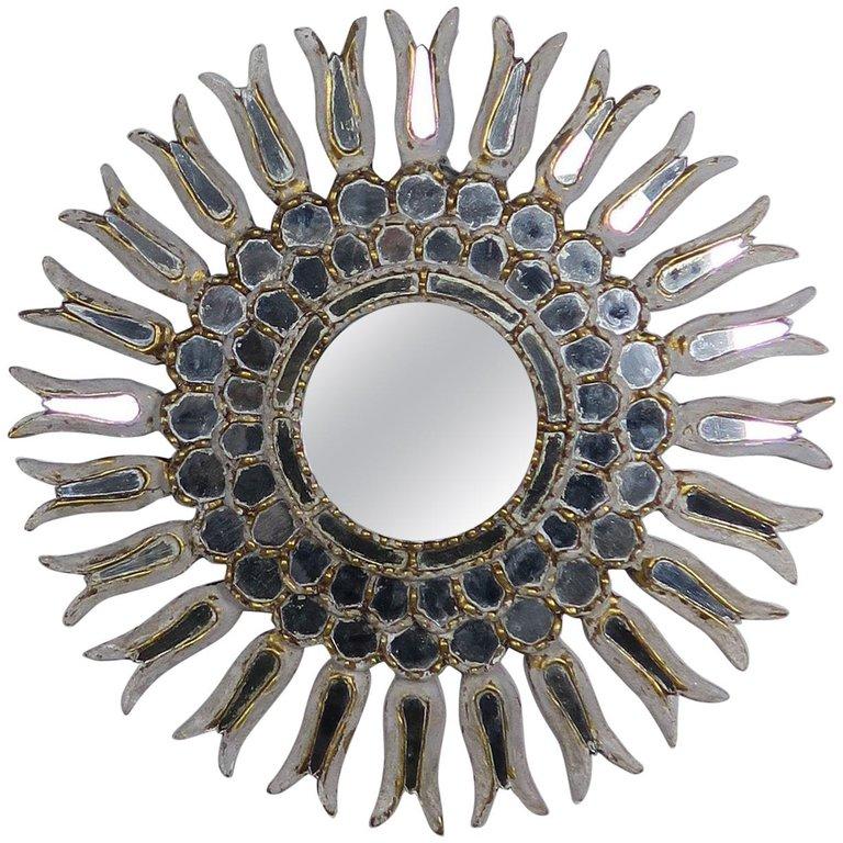 Italian Giltwood & Mirrored Sunburst Mirror, circa 1900 $2,400