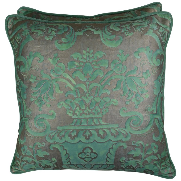 Pair of Peacock Carnavalet Fortuny Textile Pillows $1,500
