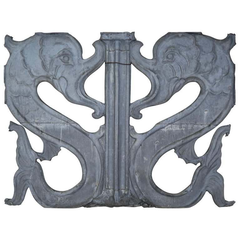 19th Century Dophin Architectural Panel $2,800